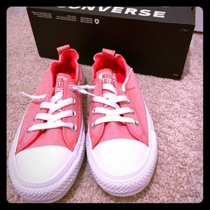 New Pink Shoreline Converse Slip-ons